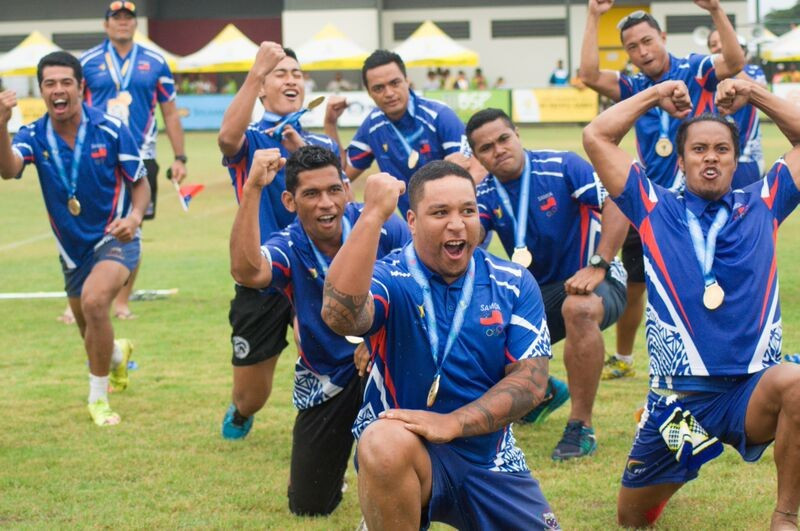 Samoa shocked hosts Papua New Guinea with victory in the mixed touch football event at the Bisini Sports Grounds