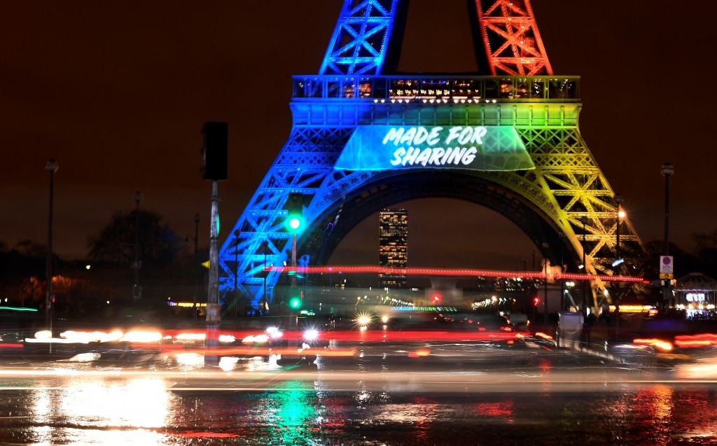 "The slogan for the Paris 2024 Olympic and Paralympic Games bid is ""Made for Sharing"" ©Getty Images"