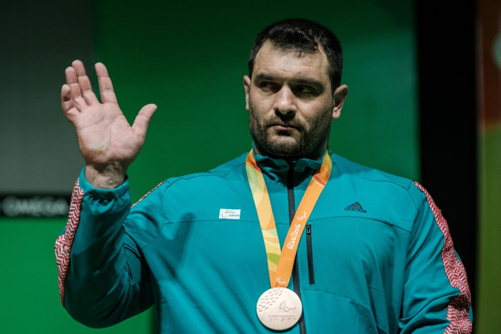 Jamil Elshebli, a Paralympic bronze medallist at last year's Games in Rio de Janeiro, won the men's over 107kg title ©Getty Images
