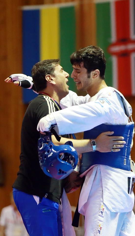 Iran's Saeid Rajabi of Iran was another taekwondo winner today at Gwangju 2015 ©Gwangju 2015
