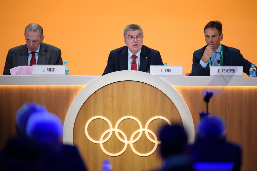 Thomas Bach's proposal to award both the 2024 and 2028 Olympics to Paris and Los Angeles later this year has struggled for support among IOC members, who have publicly opposed it ©Getty Images
