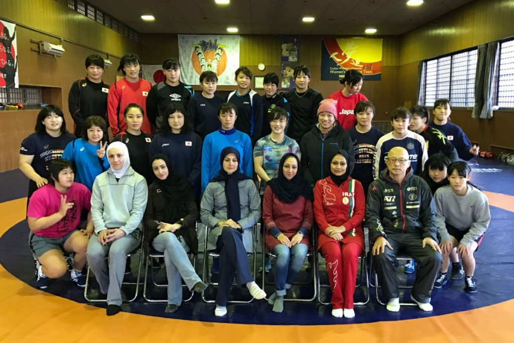 Iranian women's wrestling officials visit Japan on fact-finding tour