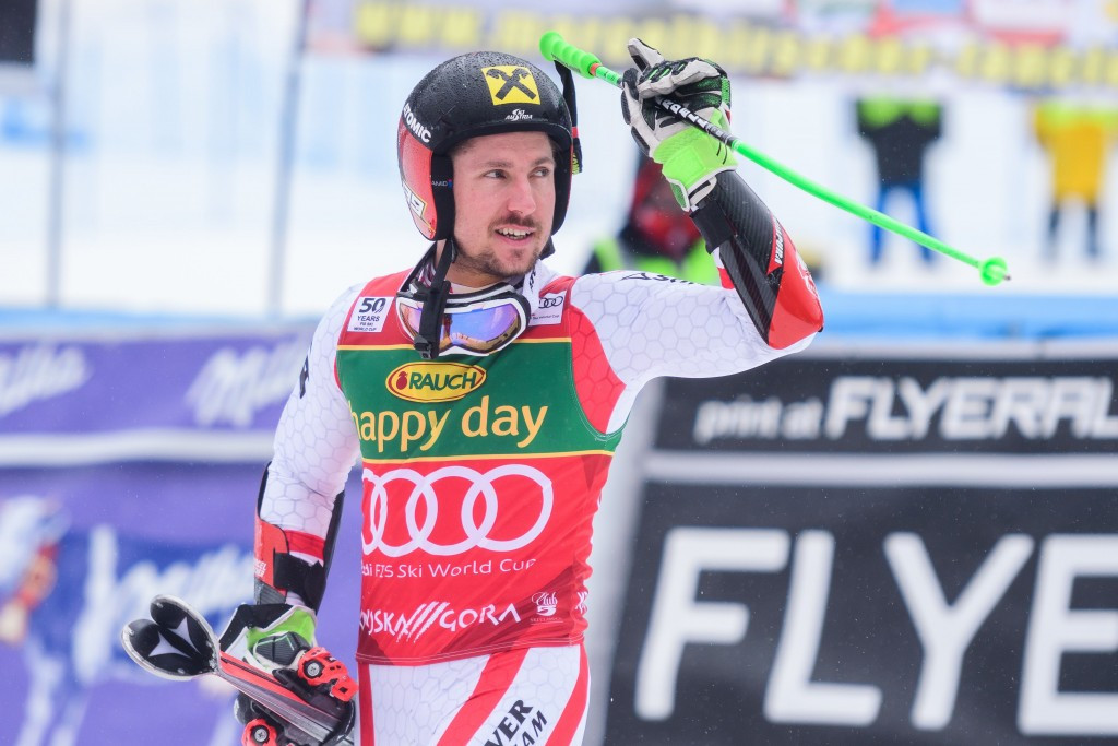 Marcel Hirscher secured a sixth successive overall World Cup win today ©Getty Images