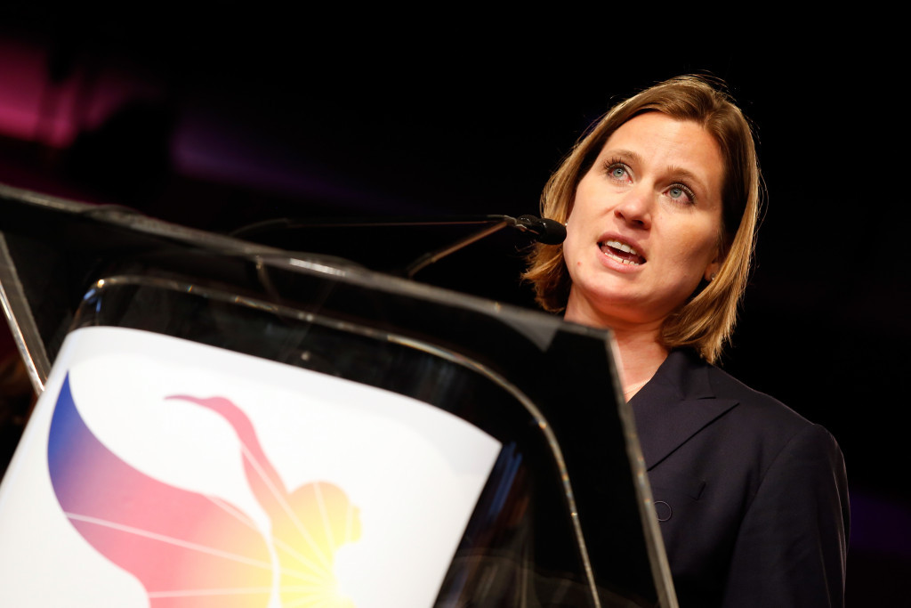 Angela Ruggiero, LA 2024's chief strategy officer, participated at the MIT Sloan Sports Analytics Conference ©Getty Images