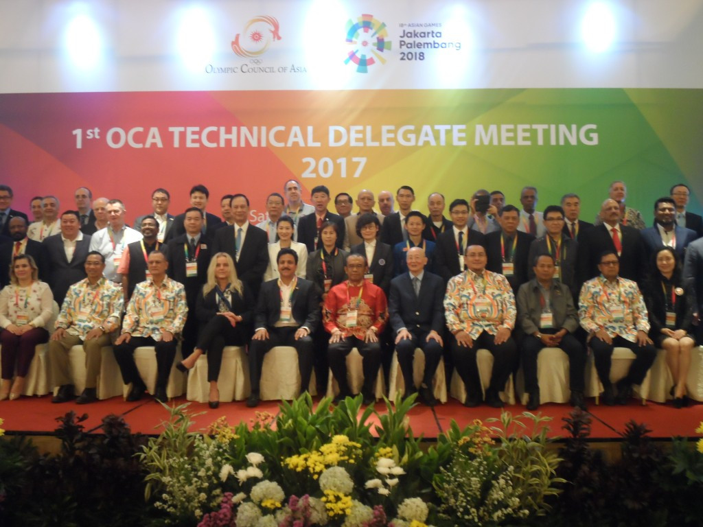 The OCA conducted the first meeting of technical delegates for the 2018 Asian Games ©OCA