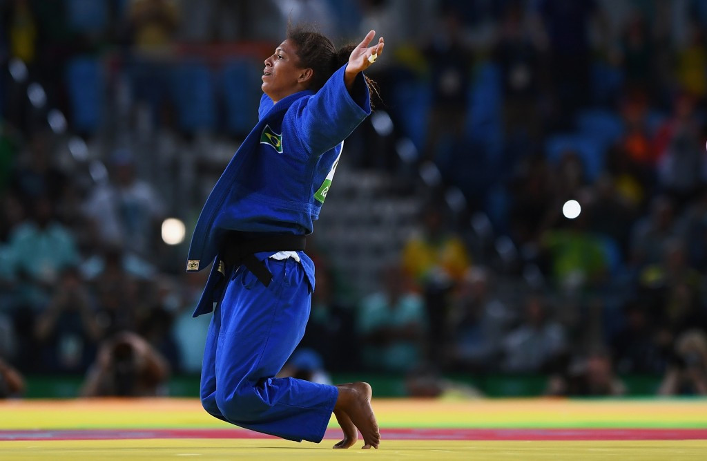 Rafaela Silva won an emotional first home gold medal for Brazil at Rio 2016 ©Getty Images