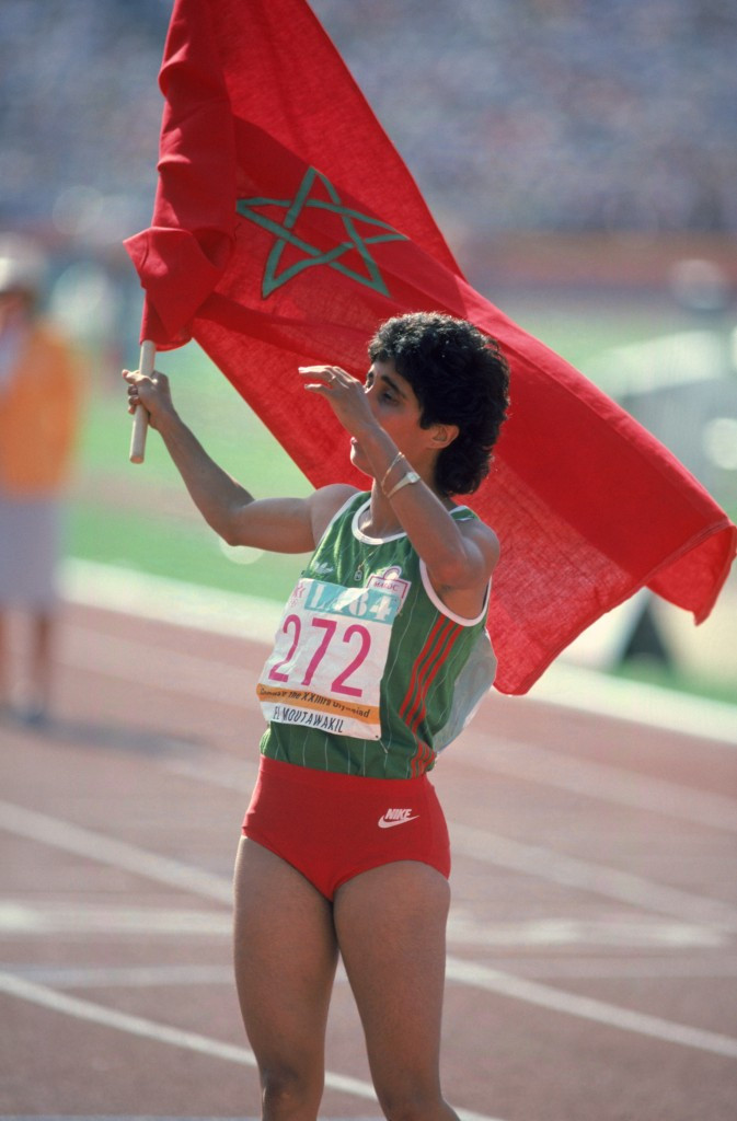 Nawal El Moutawakel made history for Morocco at the Los Angeles 1984 Olympics ©Getty Images