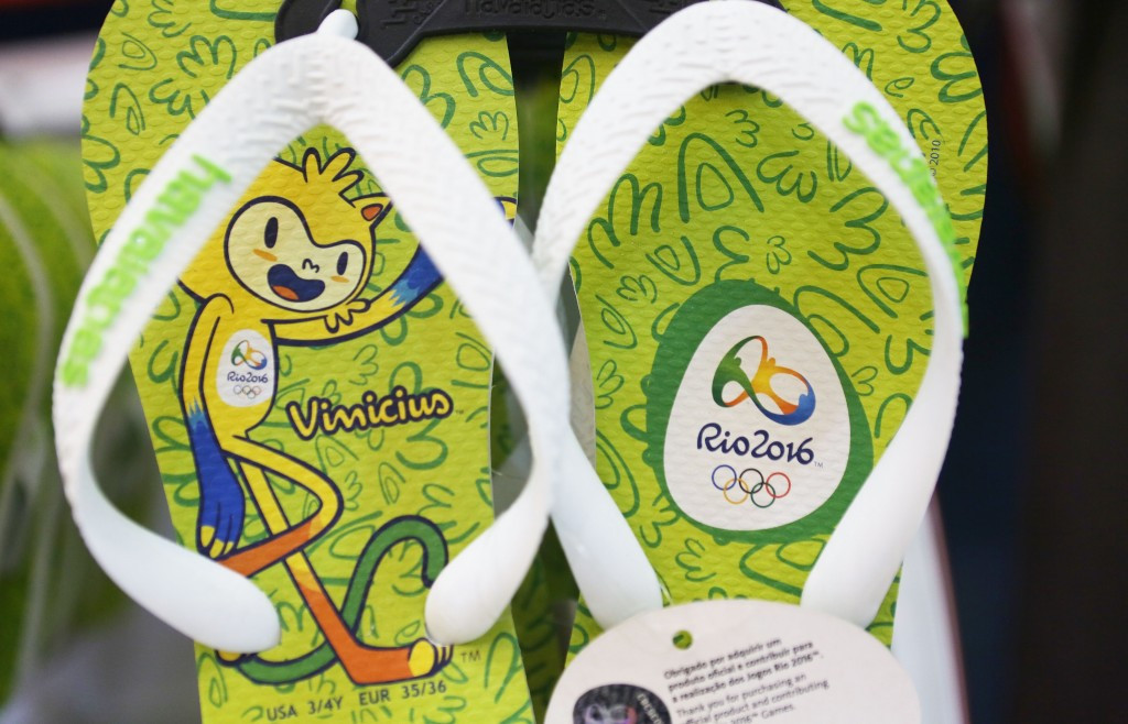 Rio 2016 flip-flops were said to be among the biggest sellers ©Getty Images