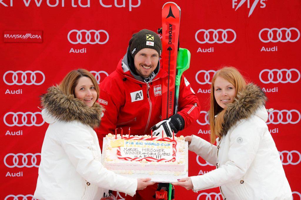 Marcel Hirscher wraps up fourth World Cup slalom title
