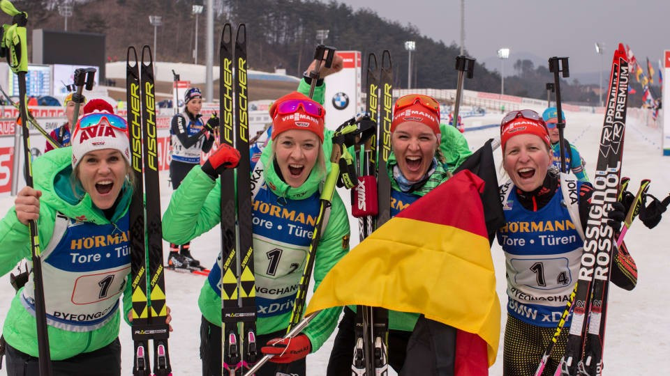 Germany and Russia secure overall IBU World Cup relay titles in Pyeongchang