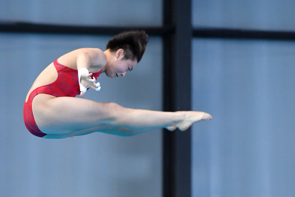 China's Si Yajie came from behind to win the women's 10m platform title ©Getty Images