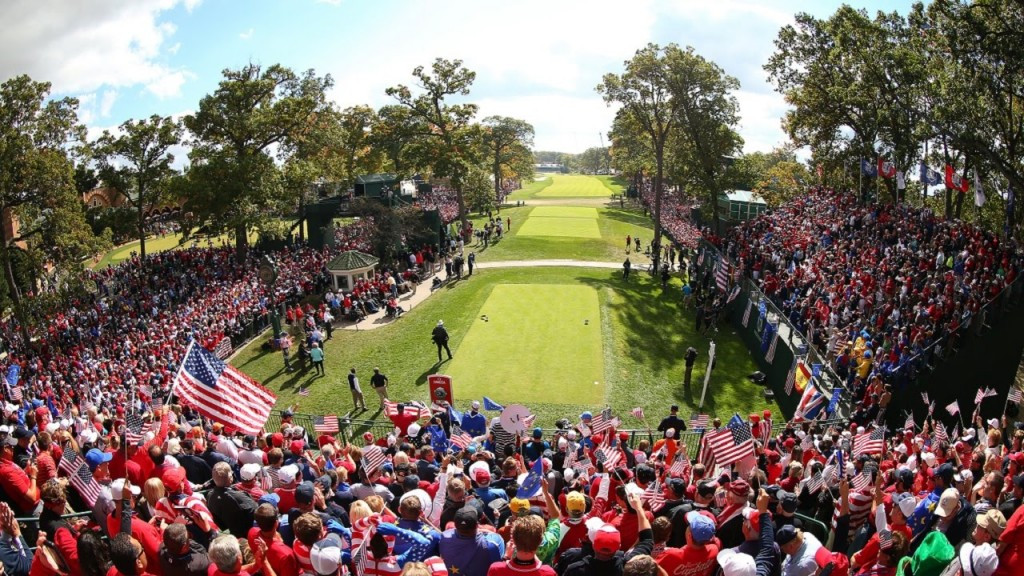 The Ryder Cup was first held in 1927 as a contest between golfers from Great Britain and the United States but now includes players from Europe to help make it more competitive ©YouTube