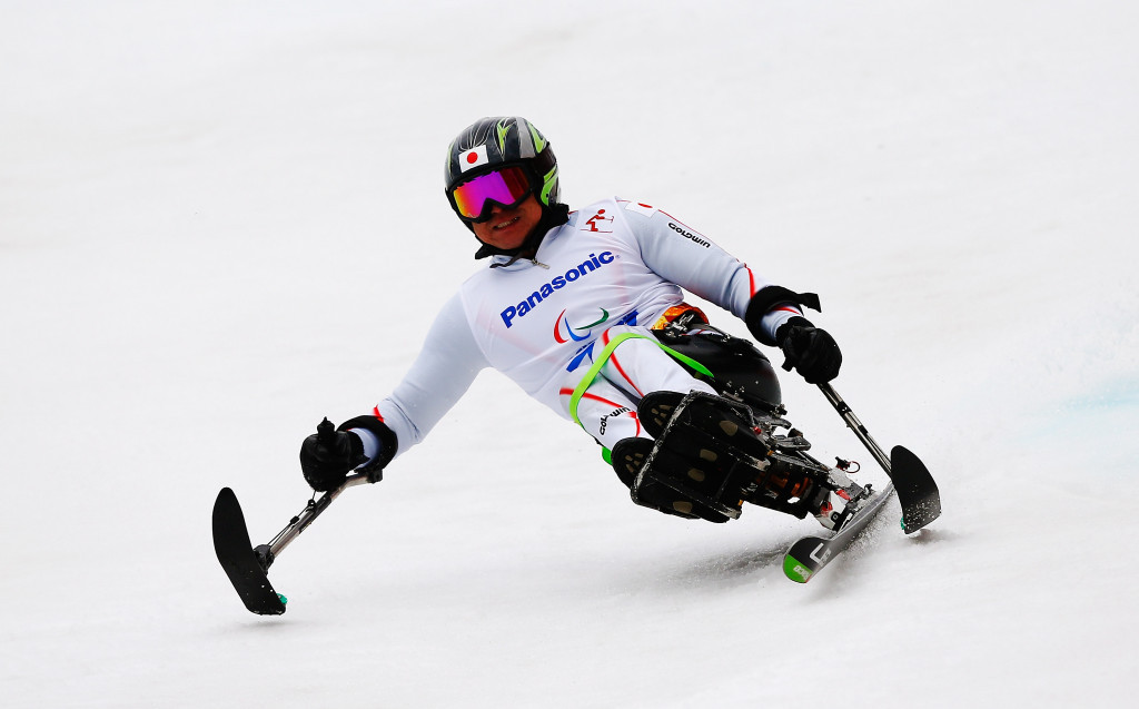 Japan's Taiki Morii won the second men's sitting super-G race of the day ©Getty Images