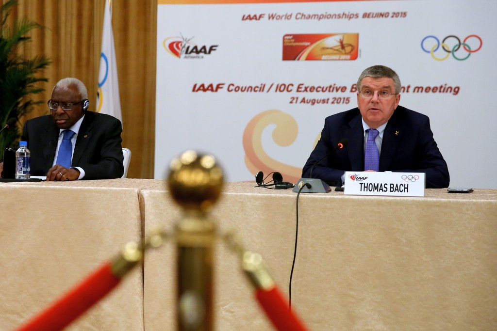 Former IOC member and IAAF President Lamine Diack, left, was linked to more corruption allegations last week ©Getty Images