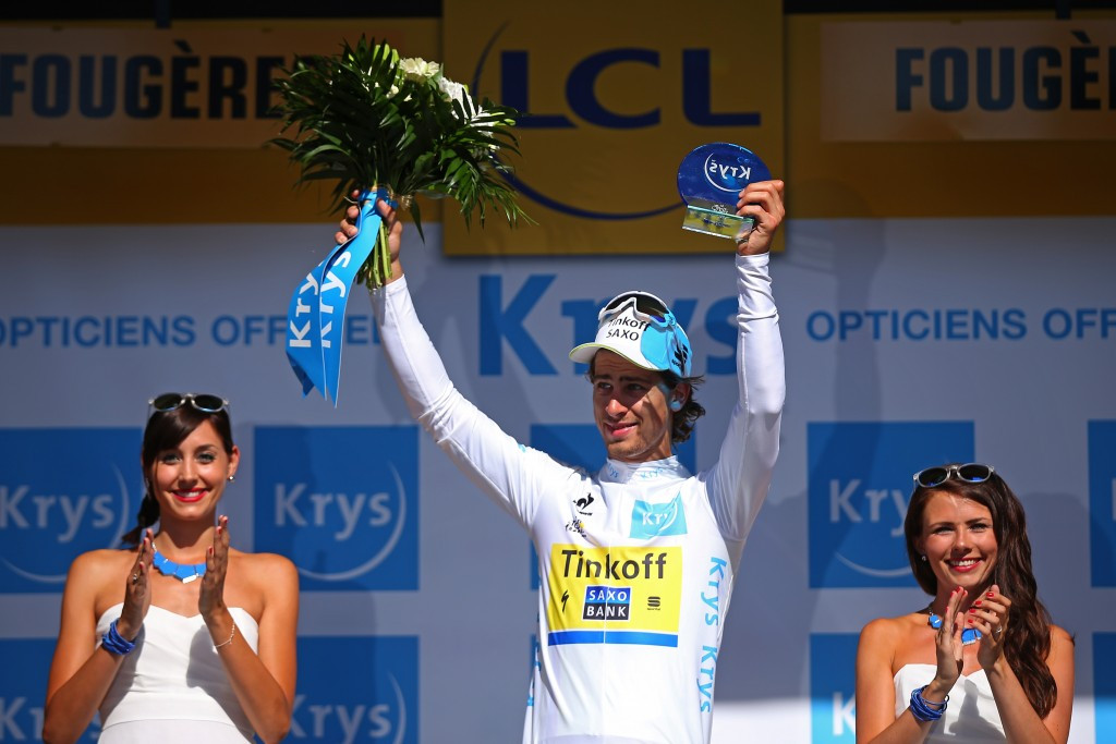 Peter Sagan, third today, moved second behind Chris Froome in the overall standings ©AFP/Getty Images