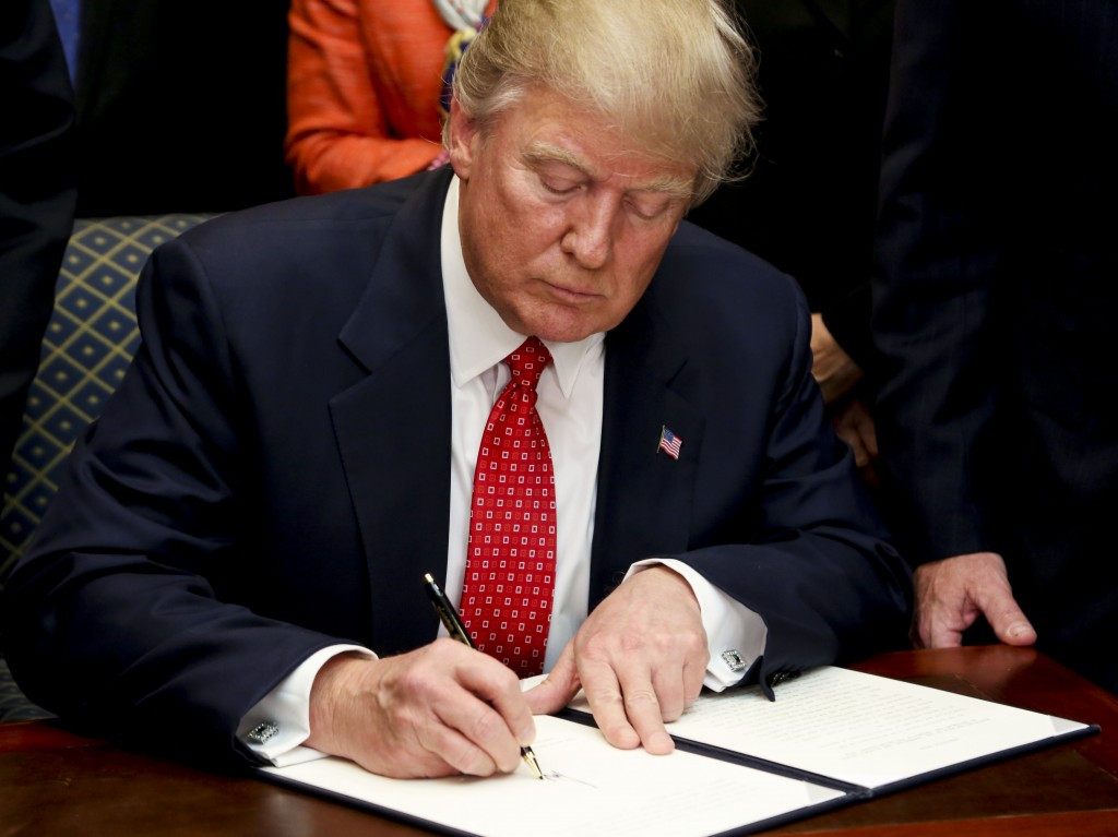 President Donald Trump signed a new executive order, placing a 90-day ban on people from six mainly Muslim nations ©Getty Images