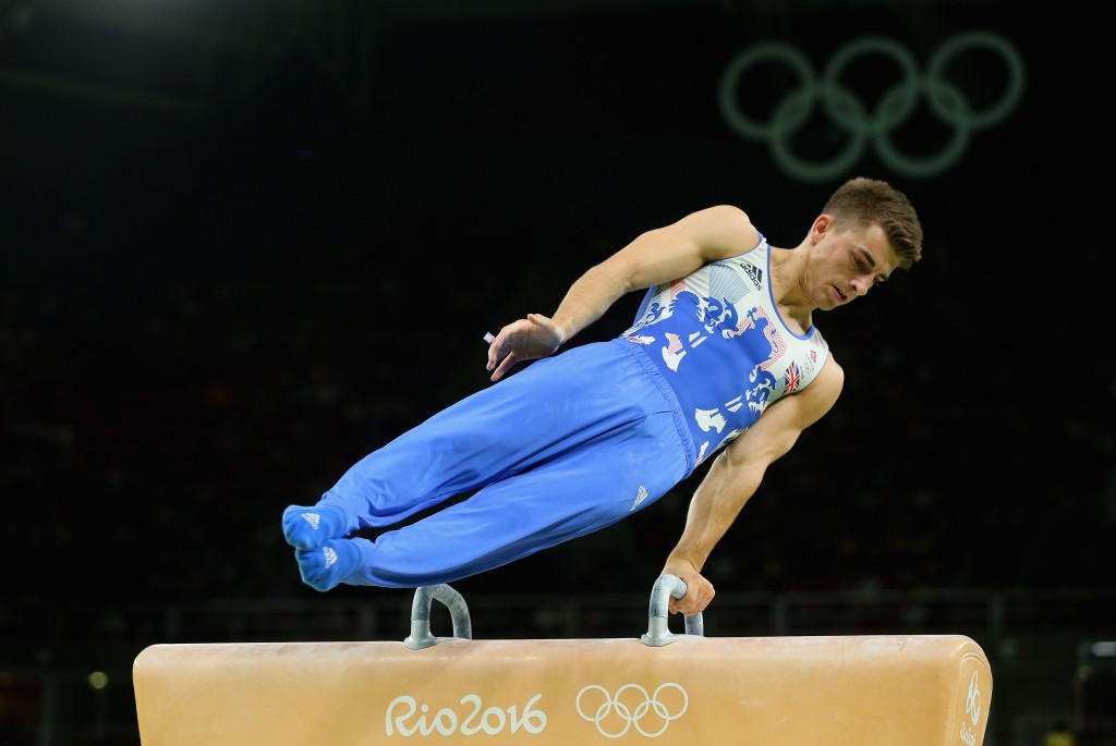 Max Whitlock won one of his two gold medals at the Rio 2016 Olympic Games in the pommel horse ©Getty Images