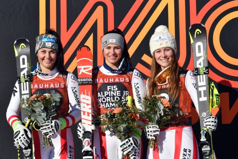 Austria dominate women's super-G event at FIS Junior Alpine World Ski Championships
