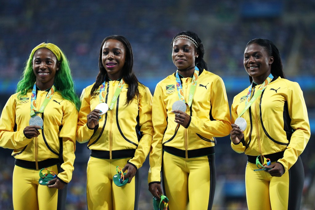 Shelly-Ann Fraser-Pryce won relay silver and individual 100m bronze at Rio 2016 ©Getty Images