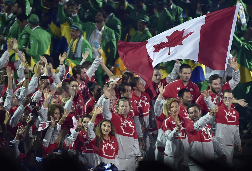 Canada received a rousing reception when making their entrance in the Opening Ceremony ©Getty Images