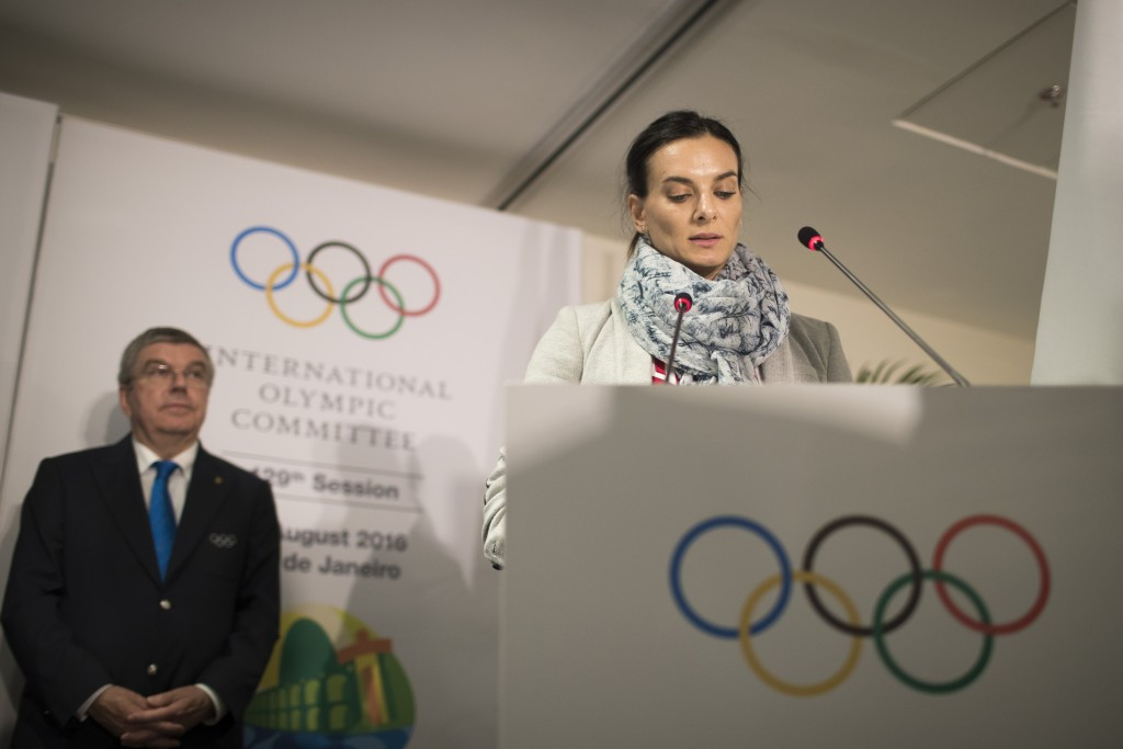 Double Olympic pole vault champion Yelena Isinbayeva was appointed as an IOC member during Rio 2016 ©Getty Images