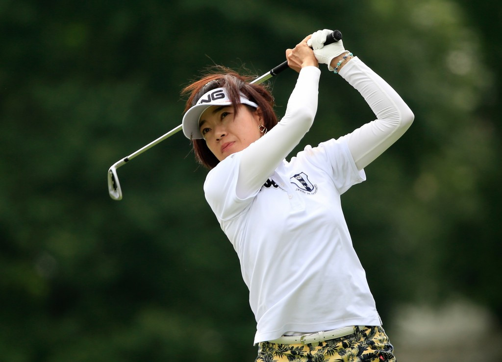 Japan's Shiho Oyama shot the joint lowest score of the day to move into contention for the title