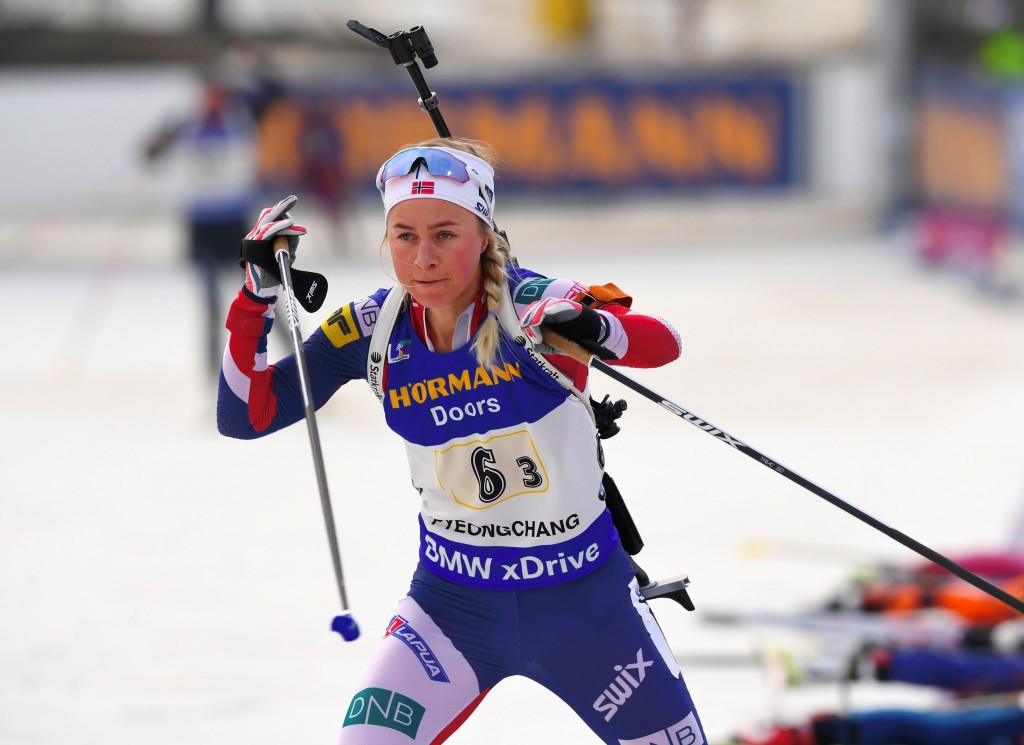 Eckhoff wins as Dahlmeier takes step towards overall title at IBU World Cup