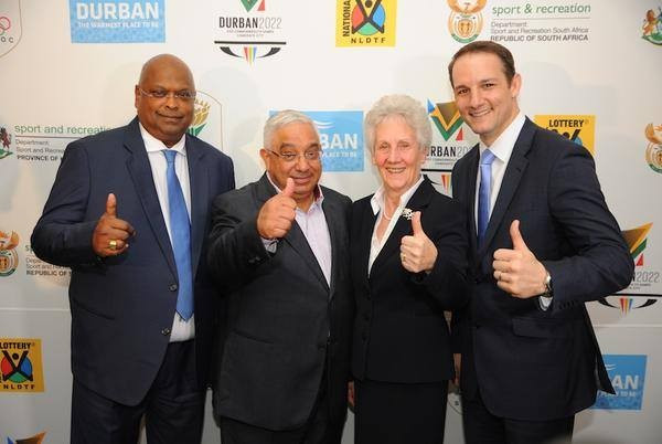 Louise Martin was all smiles during the Commonwealth Games Federation's evaluation visit to Durban in 2015 but now faces the prospect of having to find a new host ©Durban 2022