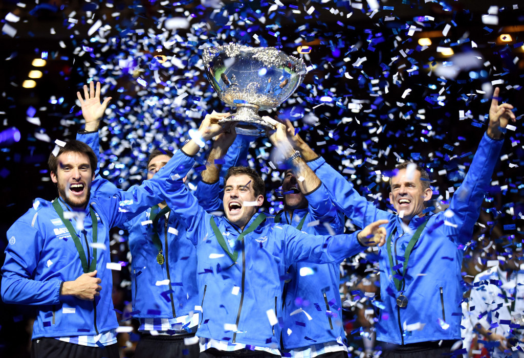 Davis Cup ties look likely to be played over three sets rather than five in the future ©Getty Images