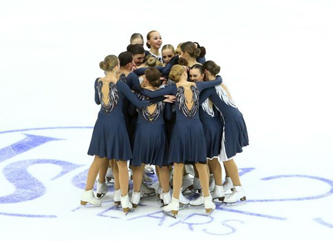 Russia's first team, Crystal Ice Junior, topped the short programme standings at the ISU World Junior Synchronised Skating Championships ©ISU