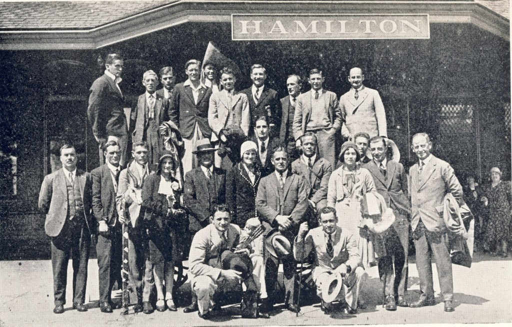 South Africa sent an all-white team to the 1930 British Empire Games in Hamilton ©Philip Barker
