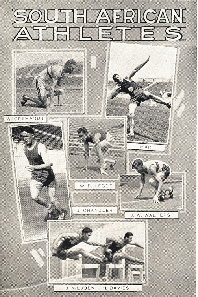 South African athletes depicted in a souvenir programme ©Philip Barker