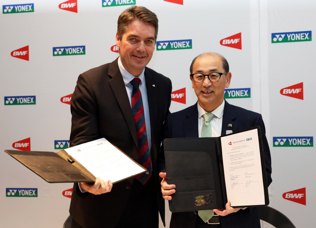 Badminton World Federation signs major events deal with Yonex