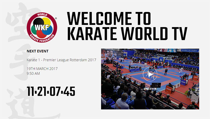The World Karate Federation online platform offers two subscription offers ©WKF