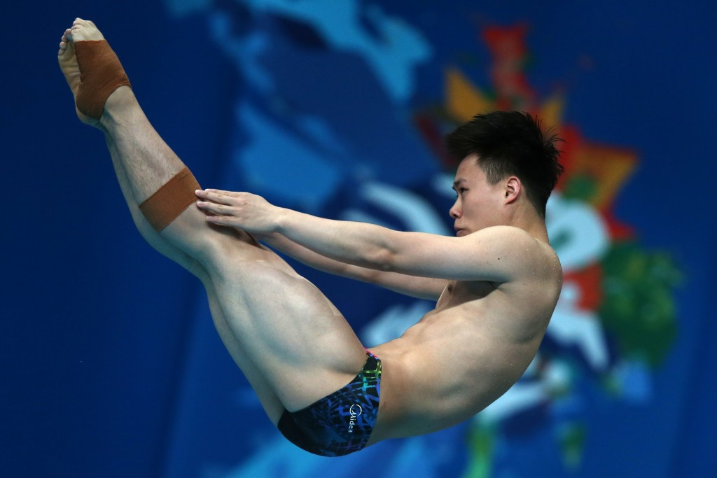 Xie Siyi won his first World Series gold in his home pool ©Getty Images