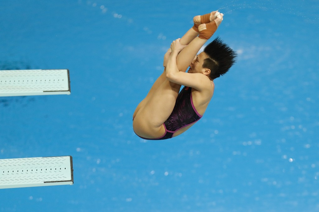 Tingmao Shi won the women's 3m springboard gold  ©Getty Images