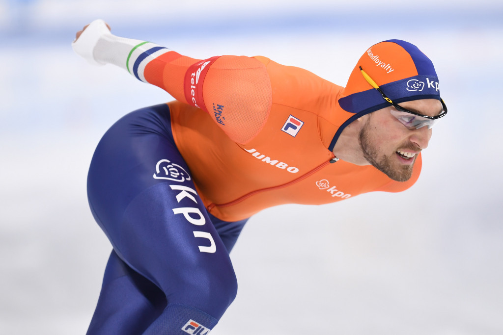 The Netherlands' Kjeld Nuis sealed the men's 1,000m World Cup with victory today ©Getty Images