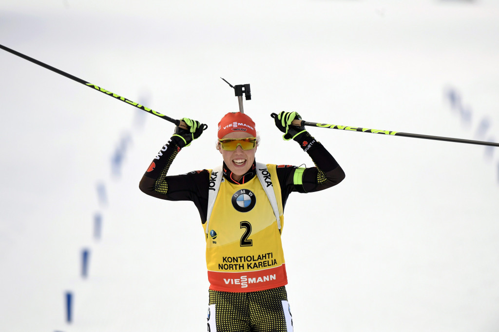 Dahlmeier wraps up overall title with pursuit win at IBU World Cup