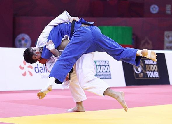 Rufat Ismayilov claimed hosts Azerbaijan's first gold medal of the IJF Grand Slam in Baku today ©IJF
