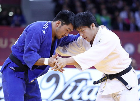 Mongolia's Odbayar Ganbaatar captured his first-ever Grand Slam gold medal today ©IJF
