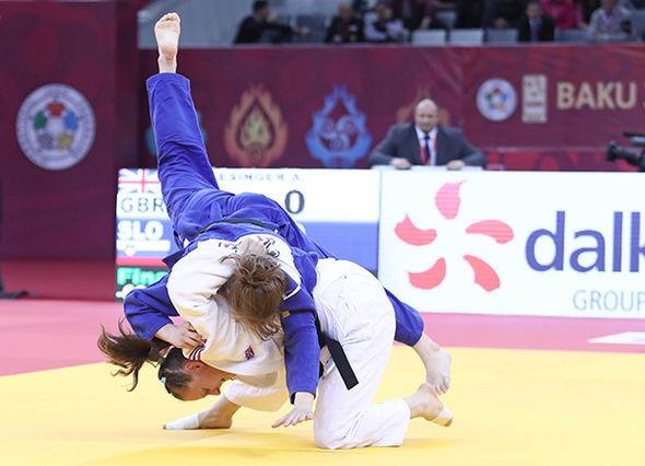 Great Britain's Alice Schlesinger defended her women's under 63kg crown ©IJF