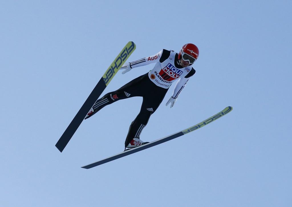 Markus Eisenbichler was part of the silver medal winning German side ©Getty Images