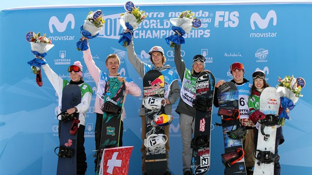 Belgium's Seppe Smits and Canada's Laurie Blouin won the respective men's and women's snowboard slopestyle titles on day four of the FIS Freestyle Ski and Snowboard World Championships in Sierra Nevada ©FIS