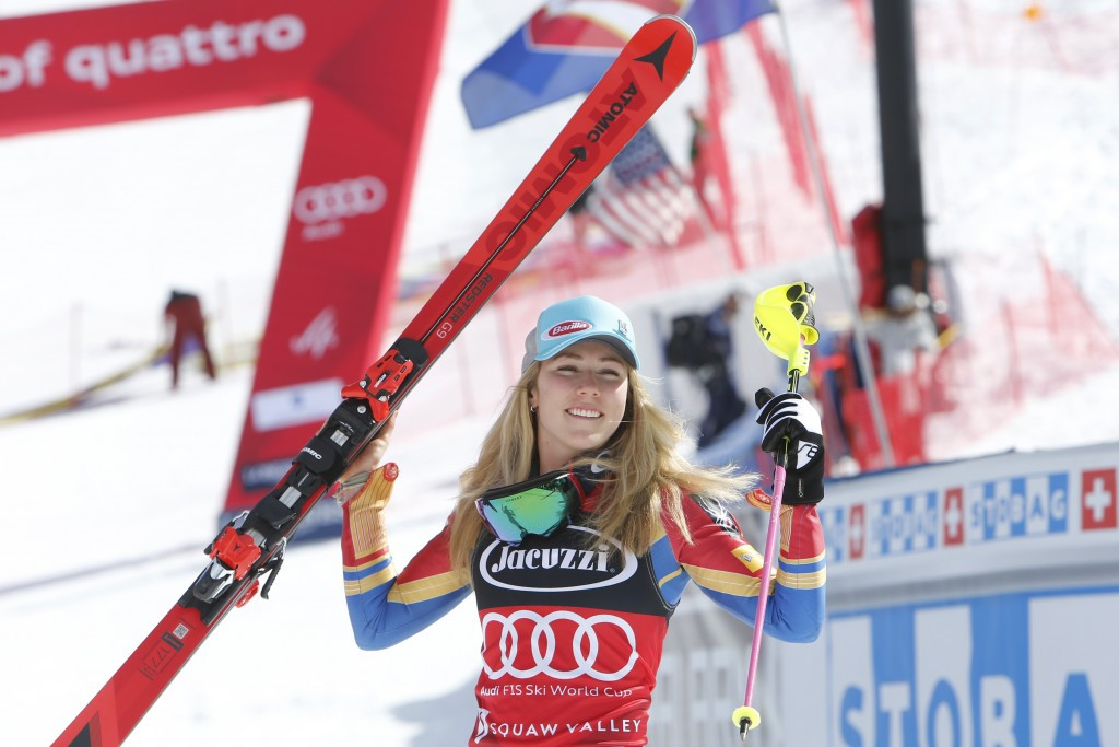 Shiffrin wins in Squaw Valley again to seal fourth FIS World Cup slalom crown