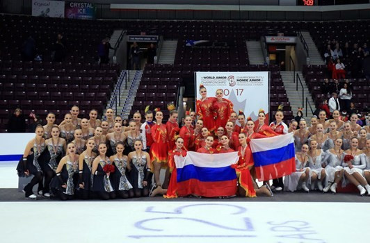 Russia's second team held off a strong challenge from Finland to claim top honours at the ISU World Junior Synchronised Skating Championships ©ISU