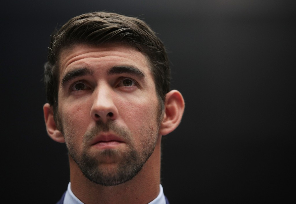 Michael Phelps hit out at a comment on his Facebook Live video ©Getty Images