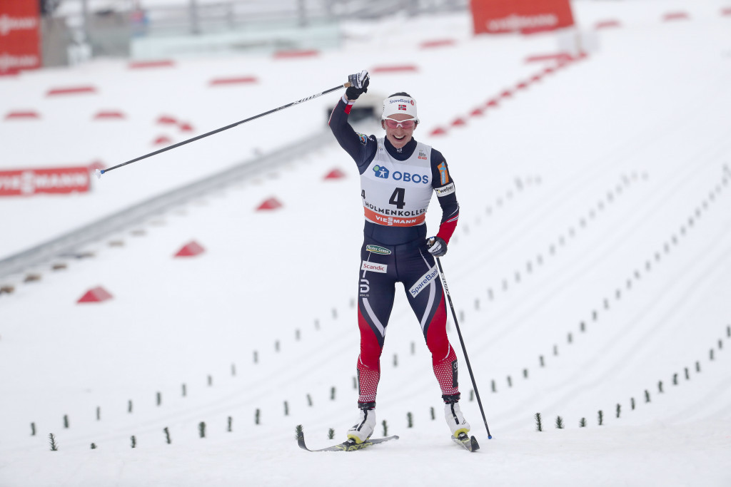 Marit Bjoergen won for a sixth time in Oslo ©Getty Images