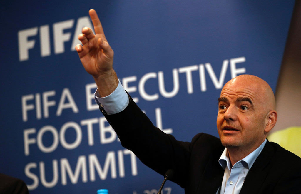 The Crimean Football Union backed Gianni Infantino to become FIFA President last year ©Getty Images