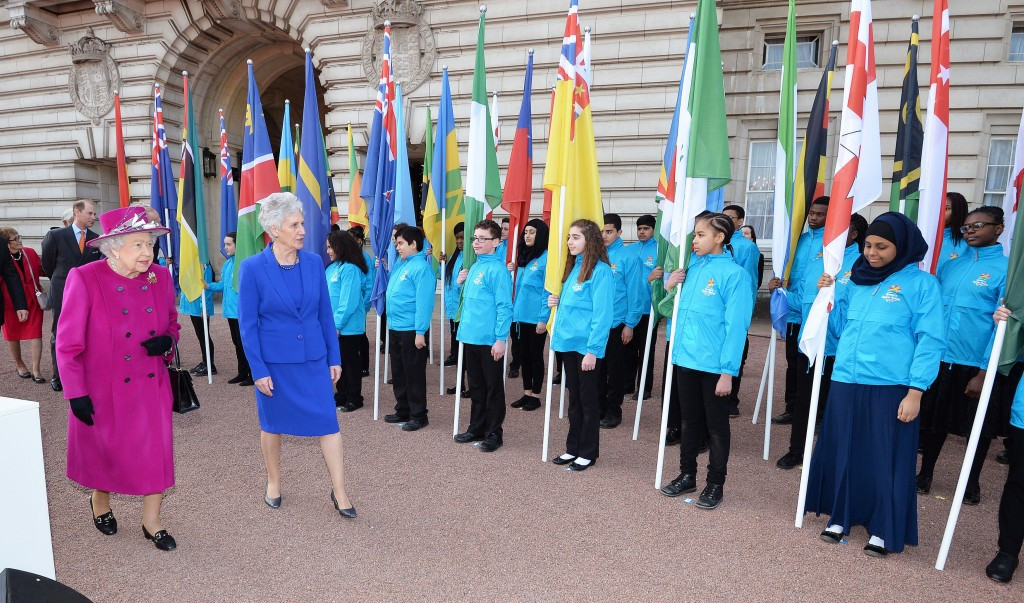 Flags of all Commonwealth nations and territories were on show at the event ©Getty Images