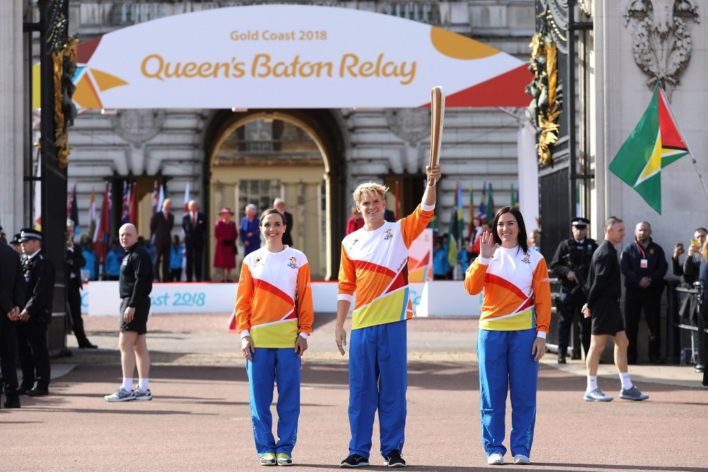 The Queen's Baton Relay for Gold Coast 2018 was launched at Buckingham Palace ©Getty Images